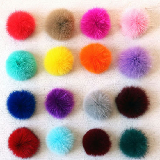 6, 8, 9, 10, 11cm Hot Sale Real Animal Fox Fur POM POM Fur Ball for Hair Ties Mink Ball
