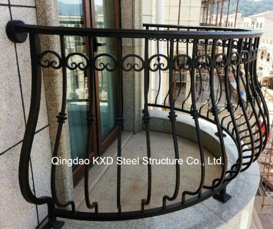 Outdoor Indoor Customized Wrought Metal Iron Railing (KXD-IF17)