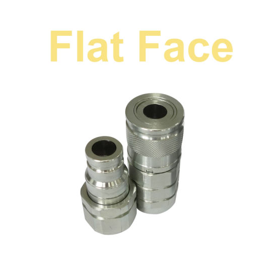 Flat Face Quick Coupling Couplers Hydraulic Fittings ISO 16028