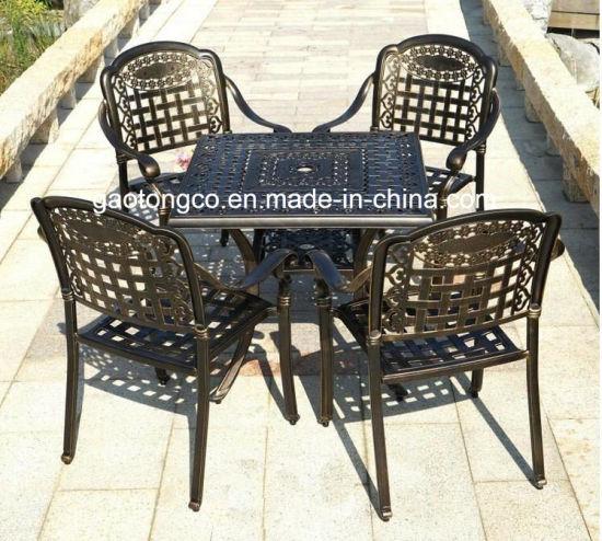 Aluminum Powder Coated Garden Table