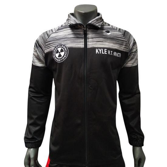 Healong Wholesale Man Custom Fitted Sportswear Plain Gym Waterproof Tracksuit
