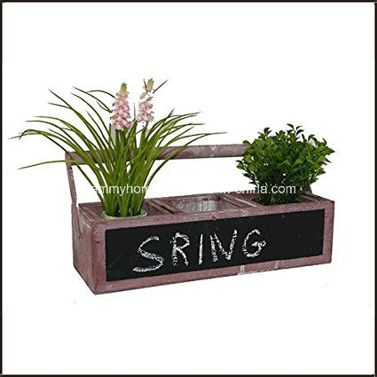 China Wooden Tool Box Planter With Chalkboard Front China Wood