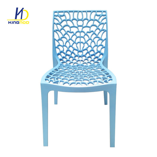 Blue Outdoor Indoor Furniture Strong Plastic Dining Chairs