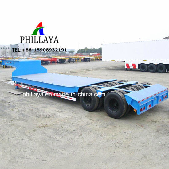 Multi Line Axle Hydraulic Low Bed Trailer 100 Ton for Heavy Equipment Transport pictures & photos