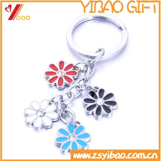 Lovely Custom Logo Metal Keychain for Souvenir (YB-LY-K-30)