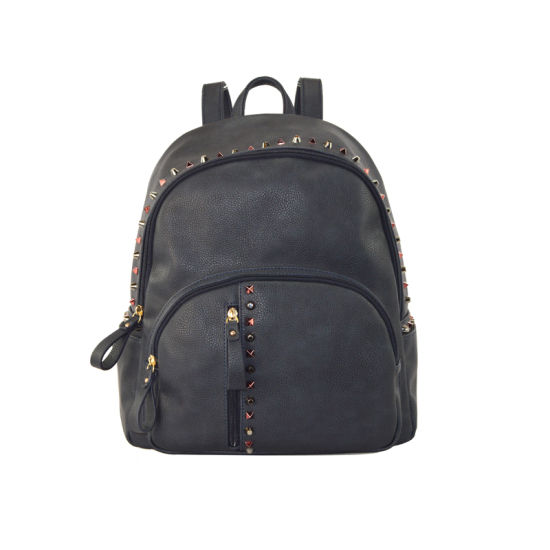 1a4c7fe3a8 China Hot Selling Ladies Studded Backpack PU Leather Daypack Zxl046 ...
