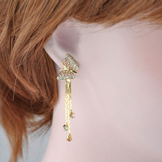 Stylish Butterfly Zinc Alloy Rhinestone Imitation Fashion Jewelry Earring pictures & photos