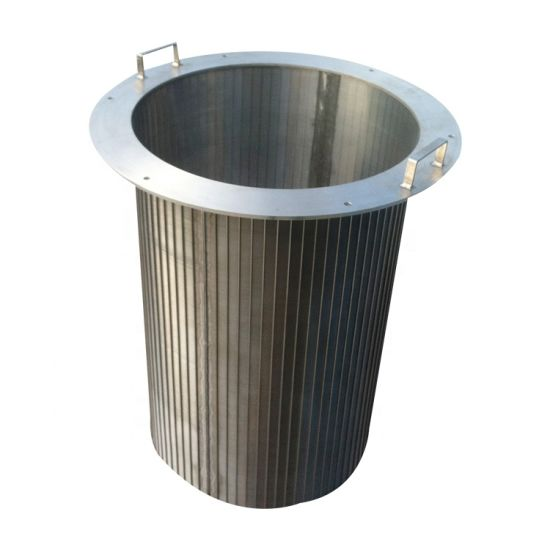 Ss Johnson Wedge Wire Screen Cylinder Filter Elements for Liquid / Solid Separation