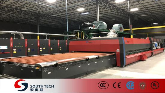 Southtech Horizontal Roller Hearth Energy Saving High Efficient Double Chamber Toughening Glass Machine with Vortech Convection System Price