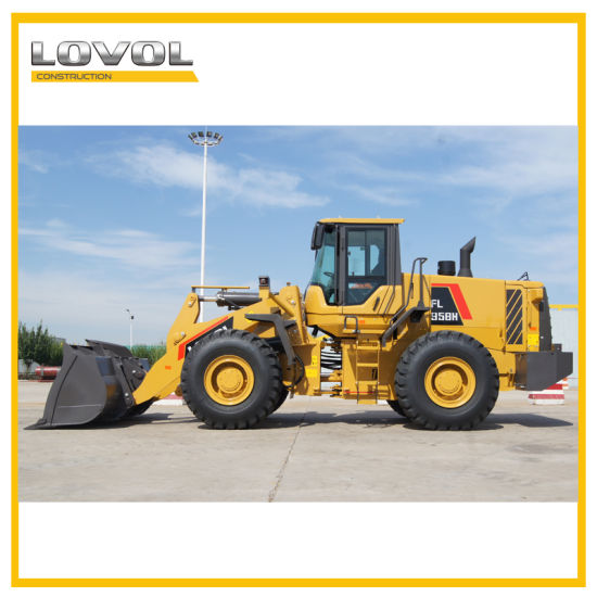 Heavy Duty Mining Wheel Loader Foton Lovol FL958g with 5.5ton Capacity