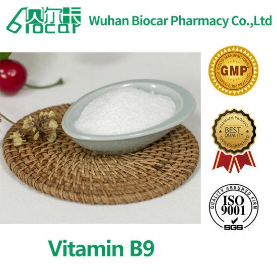 USP Grade Feed/Food/Medicine Grade Vitamin B9 Folic Acid CAS: 59-30-3