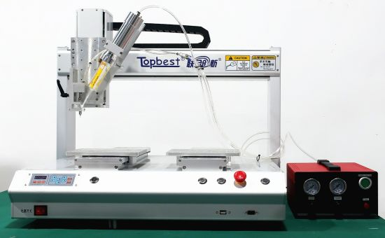 Precision Ab Glue Dispensing System/Desktop 4-Axis Double Y Two-Component Automatic Dispensing Machine
