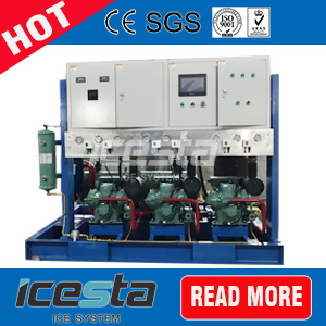15000kgs PLC Controller Bitzer Compressor Flake Ice Machine with New Technology