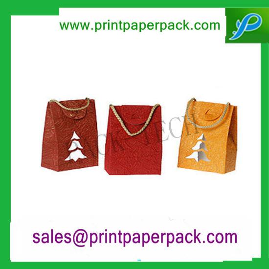 Graceful / Elegant Warm Color Boutique Paper Packaging Bag Obm Customized Design