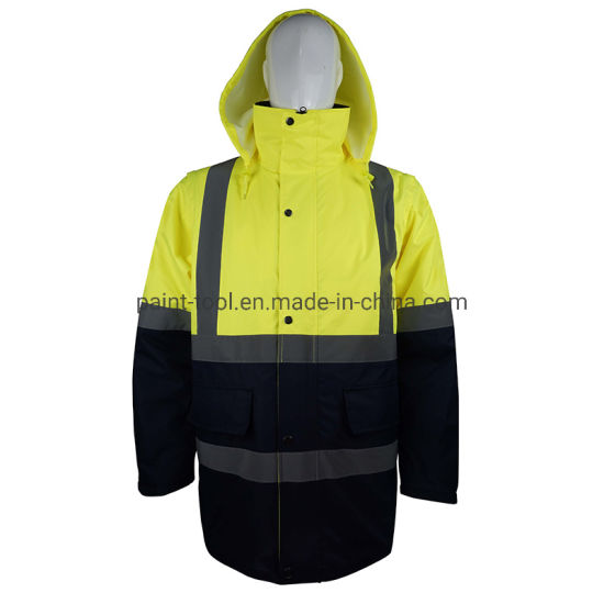 Anti Wrinkle Waterproof Reflective Safety Jacket Workwear for Workers