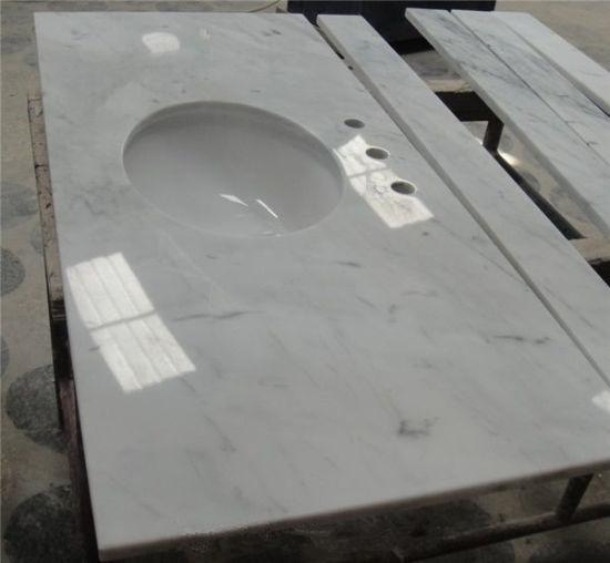 High Quality Bianco Carrara Marble Countertop For Home Hotel Bathroom