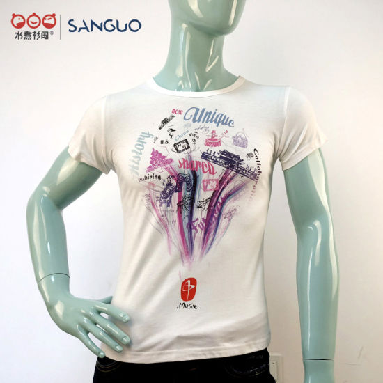 Fashion T Shirts Round Neck Manufacturer T Shirt Printing Customized