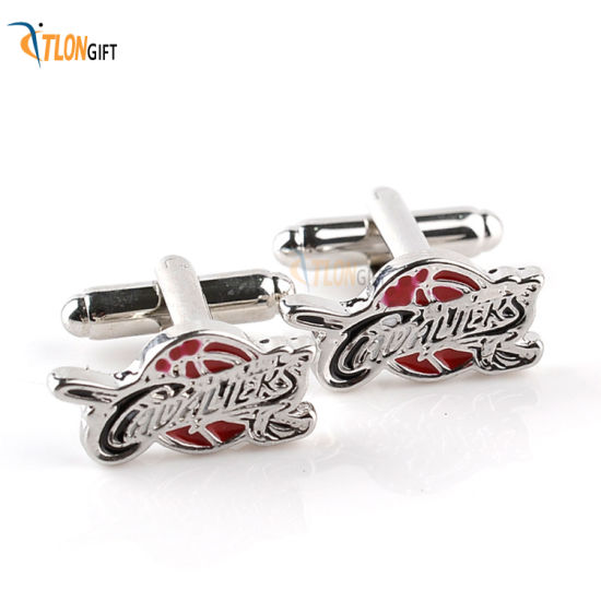Creative Fashion Souvenir Special Technique Sliver Plated Cufflink