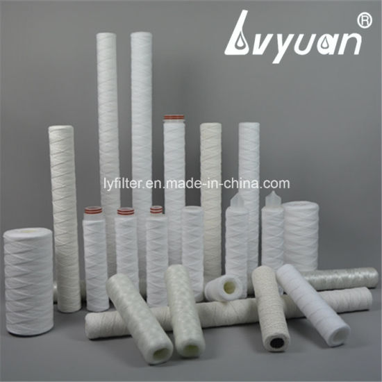 Industrial PP Wire Water Wound Cartridge Filter Bulk for Beverage/Juice Treatment