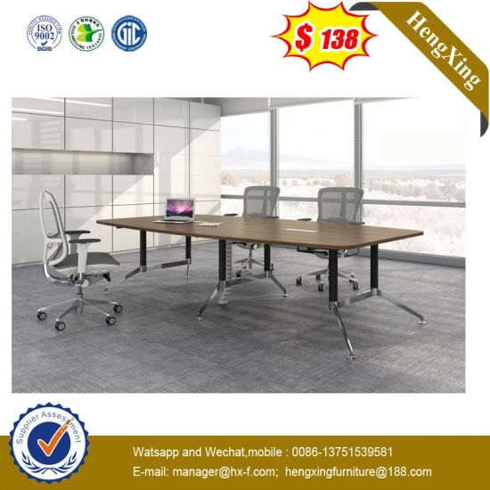 Simple Design Customized Modern Wooden School Office Meeting Conference Table pictures & photos