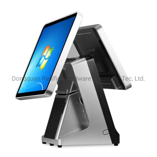 """15""""+12"""" LED 4: 3 Screen Touch POS Application Progamm Terminal with Printer"""
