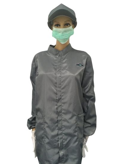 ESD Work Garment for Cleanroom Use of Jacket and Pant