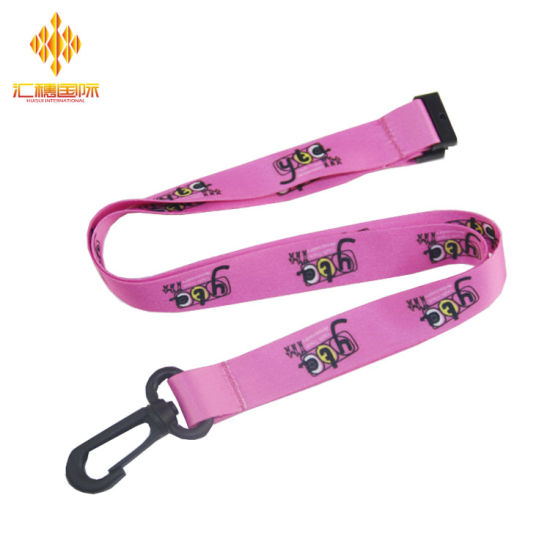 High Quality Custom Heat Transfer Lanyards with Plastic Buckle