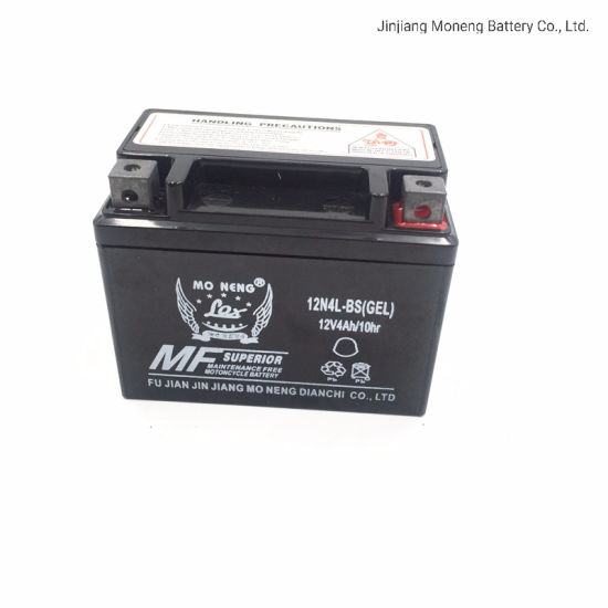 12n4l-BS Made in China Motorcycle Spare Part Deep Cycle Battery