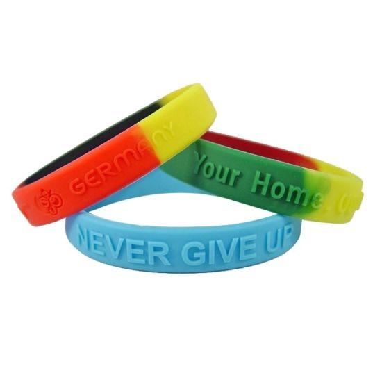 Custom Promotional Gift Kids Charm Silicone Bracelet Bangles