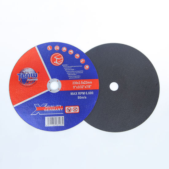 Factory High Speed Abrasive Resin Metal Cutting Disc Cutting Wheel 230*2.5*22mm