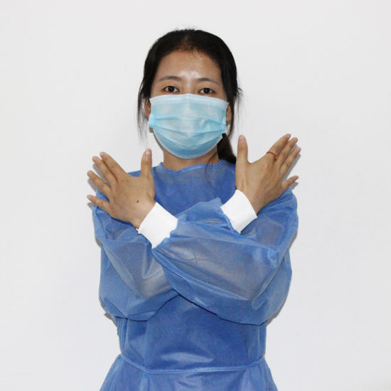 Disposable Level 3 Sterile 30GSM SMS Surgical Gown