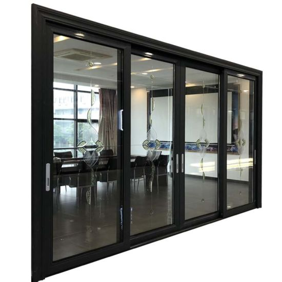 Foshan Factory Sound Proof Double Glazing Aluminum Sliding Doors for Villa