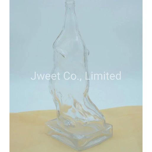 Flint Glass 1.5L Vodka Liquor Glass Bottle with Cork