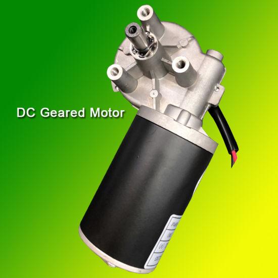 12V High Torque DC Permanent Magnet Gear Motor 100 Rpm Metal Geared Motor