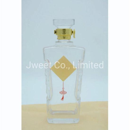 1.75L High White Liquor Glass Bottle for Tequila Wine