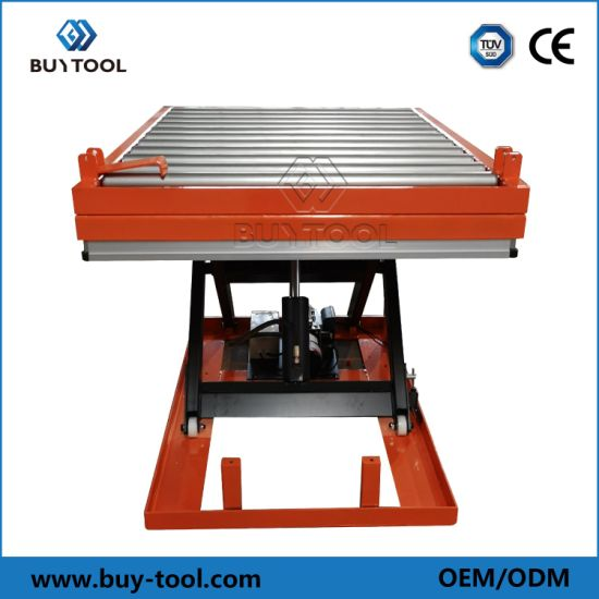 Steel Hydraulic Roller Conveyor Scissor Lift Table, for Industrial
