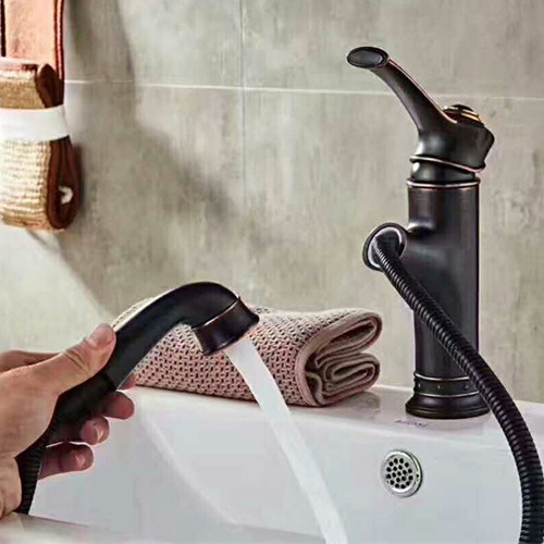 China Classical Orb Bathroom Vanity Basin Pull-out Faucet (16001R)