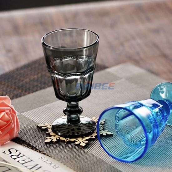 Colored Wine Glasses for Wedding Vintage Goblet Glasses Colorful Cheap Wine Glasses pictures & photos