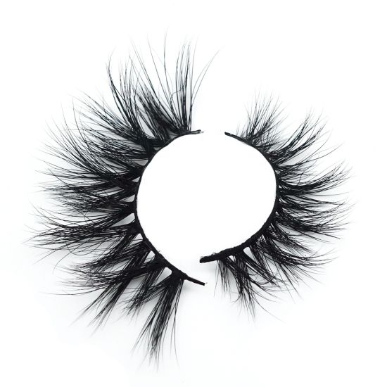 2019 New Style Hot Sales Cruelty Free 3D Mink Eyelashes 25mm Length Big Eyelash in North America pictures & photos