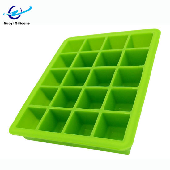 Wholesale Whiskey Ice Cube Trays Silicone Square Ice Cube Tray Mold