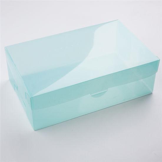 Wholesale Custom Logo Clear Packaging Folding Plastic Shoe Box