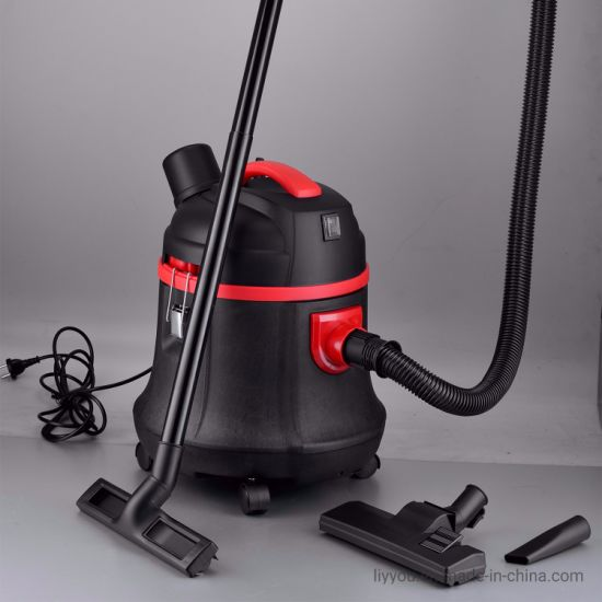 Portable Wet Dry Vacuum Cleaner, 5 Gallon, 3HP, 7A, Large Casters, Balanced Top Handle Design