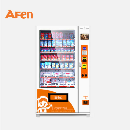 Afen Intelligent Card Reader Cosmetics Makeup Skin Care Product Vending Machine with Telemetry Control