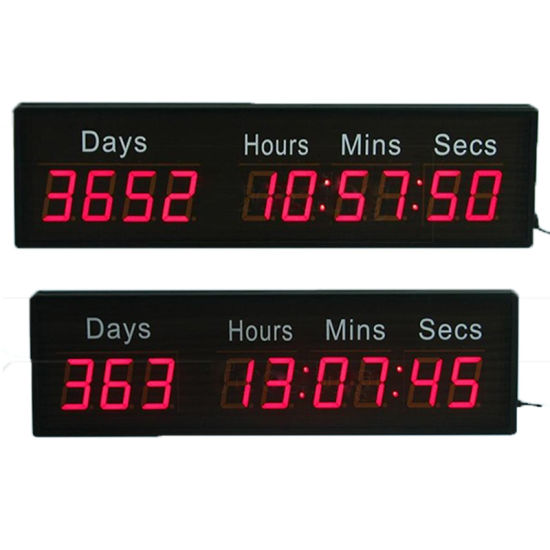 2.3 Inch 9 Digit Red Numbers Programmable LED Countdown Clock