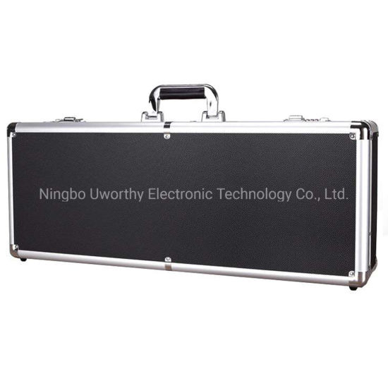 China Professional Aluminum Metal Makeup Case with Wheels and Lights