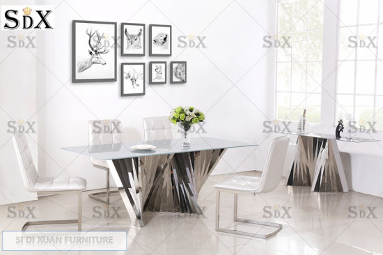 New Design Arts Stainless Steel Base Console Table Furniture for Hotel Home pictures & photos