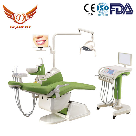 Integral Dental Chair Unit, Dental Equipment, Portable Dental Unit Price with Mobile Cart (GD-S350C) pictures & photos