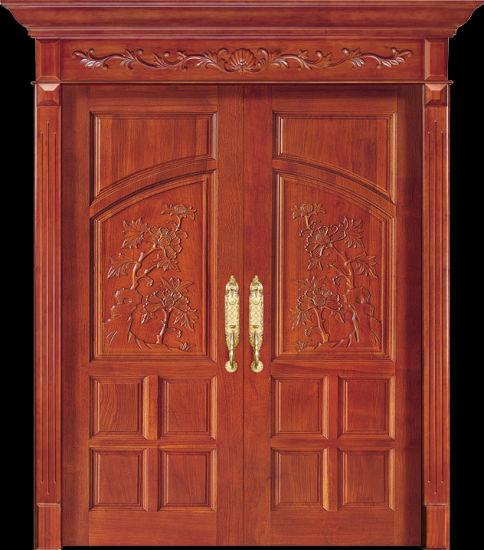 Luxury Teak Wood Double Door Design (CL-2047)