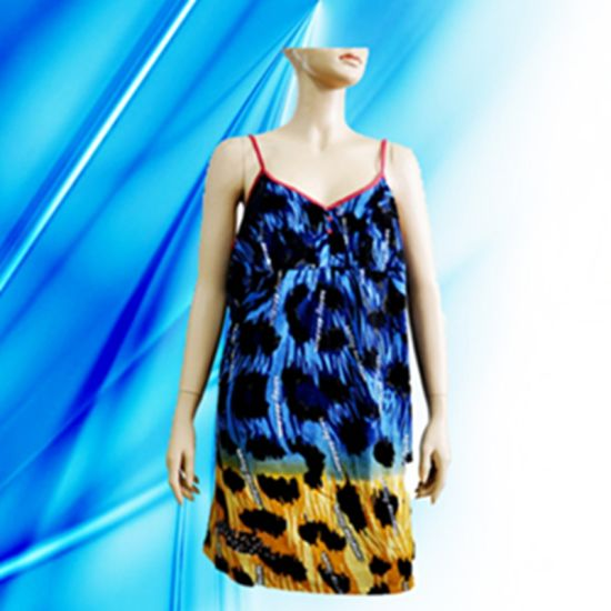 100% Cotton Lady's Allover Print Nightdress