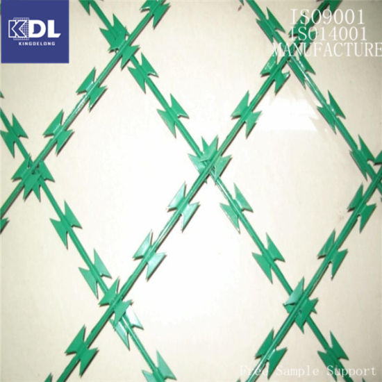 Factory Price Galvanized Razor Barbed Wire Made in China (KDL-18)